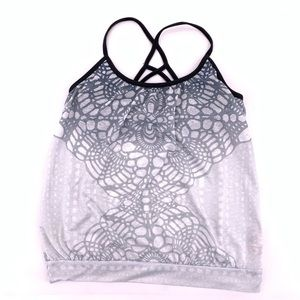 Prana Athletic Workout Top Built in Bra Small